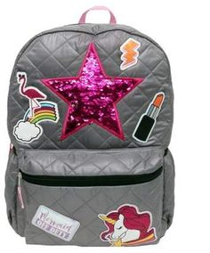bd6894fcfe2 Fashion 17 Patch It Up! Shine On Backpack - Gray