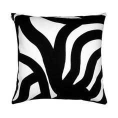 Coussin Joonas 50 x 50 cm Joonas - Noir & blanc - Marimekko Marimekko, Outdoor Cushion Covers, Outdoor Cushions, Grey Cushions, Couch Pillows, Modern Throw Pillows, Decorative Throw Pillows, Pillow Shams, Pillow Covers