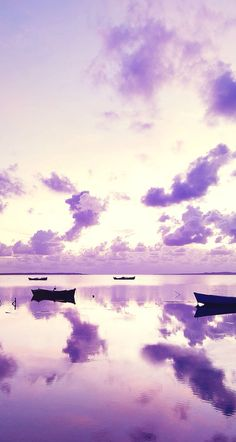 Purple sky with a purple sea. iOS8 HD wallpaper for iPhone and iPod touch