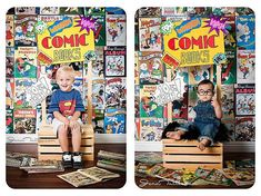 Vintage Comics, Comic Books, Boy, Photography Backdrop, Vinyl, Poly Paper, Fleece, many sizes available, studio, Cake Smash, Tom and Jerry