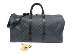 #LOUISVUITTON Keepall bandouliere 55 Boston Bag Damier N41413 (BF106565): #eLADY global offers free shipping worldwide. For more pre-owned luxury brand items, visit http://global.elady.com