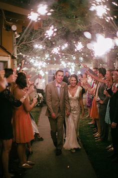 Sparkler send off | Photo by Grover Photographers |