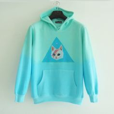 """Japanese harajuku cute cat fleece hoodie - Use the code """"batty"""" at Cute Harajuku and Women Fashion for 10% off your order!"""