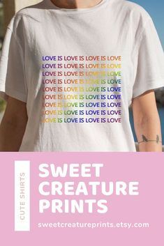 Love Is Love. Show off your pride with this lgbt shirt! Click through to view more styles. #pride #lgbt