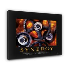 Classic Synergy Gears Motivational Photographic Print