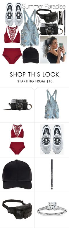 """Summer Paradise"" by leonorgomes on Polyvore featuring I.D. SARRIERI, NIKE, Miss Selfridge, Rimmel, AmeriLeather, Blue Nile and Aéropostale"