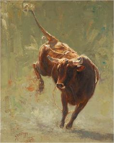 rodeo bull painting by Greg Beecham