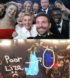#Ellen should have had a #SelfieStick - Liza Minnelli wouldn't have gotten cut out!  #selfies #selfie #selfiesticks
