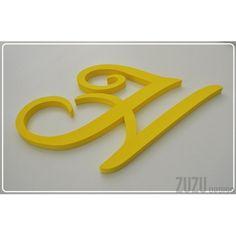Żółty monogram