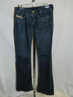 "DIESEL Women's Jeans ""Louvely"" Size 28X34 Dark Wash  INV#0355 #DIESEL #StraightLeg"