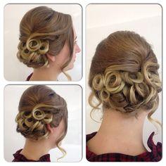 Pin curls updo Pin Curl Updo, Pin Curls, Updos, Ear, Style, Fashion, Hair Dos, Moda, Stylus