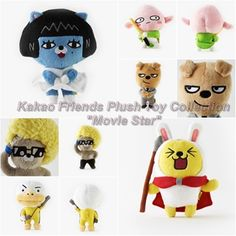 Kakao Friends Official Goods Mini Dolls Plush Toys Movie Star Collection 15cm #KakaoFriends