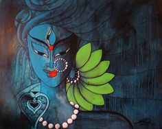 Shiva -::- Infinite Blue on Acrylic Indian Artwork, Indian Folk Art, Indian Art Paintings, Modern Art Paintings, Lord Ganesha Paintings, Lord Shiva Painting, Krishna Painting, Shiva Art, Krishna Art