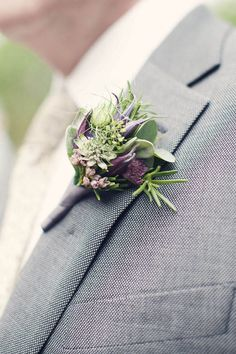 Soft green and purple buttonhole IDEAS: Boutonniere & Corsages for Weddings. Ideas and Inspirations Wedding Directory-UK {WDUK}