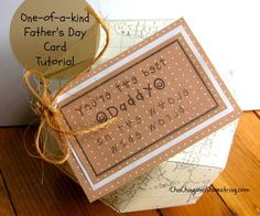 You're the Best Dad in the World Father's Day Card Tutorial and Printable with Handmade Globe