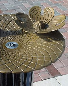 Nancy Blum is an east coast artist who works on large scale drawings and sculptural works for public space. Public Space Design, Fountain Design, Drinking Fountain, Sense Of Place, Garden Accessories, Public Art, Water Features, Lotus Flowers, Lily Pad