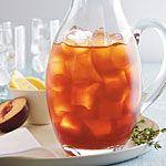 Plum-Thyme Iced Tea Recipe | MyRecipes.com