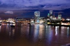 London Skyline, London Bridge, Thames