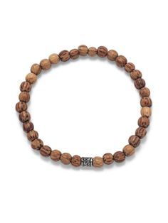 Come on guys, you gotta accessorize!  Palmwood bead and silver tone bead ...