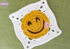 Click HERE for the $1.99 large print, ad-free, pdf Pattern! Day 3 of the Craft Yarn Council's Anti-Boredom Month Granny Square Crochet-A-Long here on my blog is one of my favorites! The Emoji Granny Square! I chose to make a fun emoji, a smile with a playful tongue! These emoticons have taken over the worldRead More