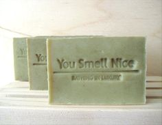Good Luck and Get Lucky Man Soap - manly woodland ish scent - gift for men current batch is sage green
