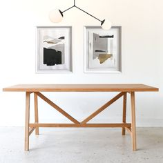 Modern Trestle Dining Table / Butterfly Joinery - WHAT WE MAKE White Oak Dining Table, Trestle Dining Tables, A Table, Wood Tables, Building Furniture, Furniture Plans, Diy Furniture, Furniture Design, Furniture Websites