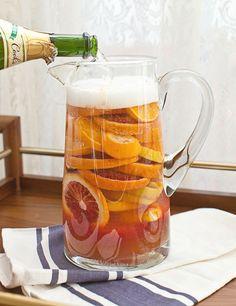 RECIPE: Fresh Squeezed Blood Orange Juice Sangria | A Beautiful Mess + west elm