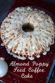 Almond Poppyseed Coffee Cake - pinned over 2,000 times! My Kitchen Escapades
