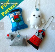 Doctor Who Ornament Pattern by Michelle Coffee