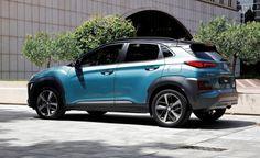2018 Hyundai Kona exterior design: aggressive front, calmer rear.