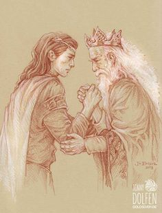 Elrond and Elros by Jenny Dolfen.