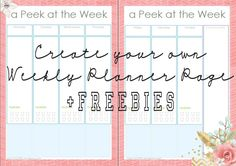 Hi lovies! I know it's been awhile since my last post. I've been busy with work stuff. So as my comeback gift to you I have another DIY weekly planner page tutorial plus freebies! Disclaimer: This ...