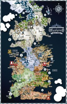 Game of Thrones  Westeros Map  1711 Poster