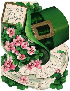 Vintage St Patrick's Day ~ St Patrick's Day, Vintage Greeting Cards, Vintage Postcards, Fete Saint Patrick, St Patricks Day Cards, Decoupage, Erin Go Bragh, Images Vintage, Irish Blessing