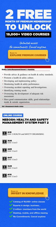 NEBOSH HEALTH And SAFETY Management System PART 2 Business Safety AND Health Course Nebosh