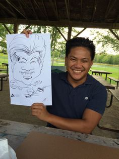An amazing caricature done from our caricature artist Tiffany at a recent event. Caricature Artist, Recent Events, Tiffany, Portrait, Amazing, Illustration, Men Portrait, Illustrations, Portrait Illustration