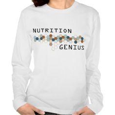 Nutrition Genius T Shirt - some great #dietitian t-shirts #RD Zazzle.com Dietitian clothing