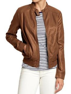 Women's Faux-Leather Moto Jackets...These came in at work today and i nearly drooled