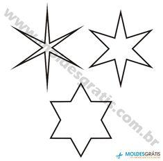 Os melhores moldes de estrelas grátis para você! Baixe seu molde preferido e use-o em seu trabalho de artesanato. Escolha seu molde de estrela e aplique em seu trabalho com criatividade.