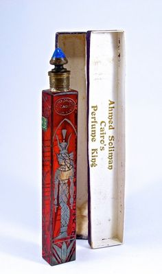 1920s Czech Ahmed Soliman Perfume Bottle