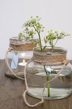 Ib Laursen lantaarn met touw, ook leuk met bloemen!