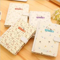 """""""Beautiful Flower"""" 1pc Cute Diary Lined Planner Hard Cover Notebook Journal Gift #Unbranded"""