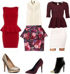 Peplum Valentines Dinner Outfits