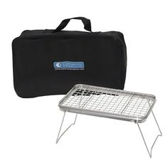 """Camping Grill - Portable Compact Scout Outdoor Grill (16.5"""" X 10.5"""") - Weighs Just 2.5 Lbs and Includes Carrying Bag Camerons Products http://www.amazon.com/dp/B003GWHY5I/ref=cm_sw_r_pi_dp_fPEhvb016QGX6"""