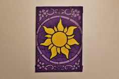 Tangled Sun Icon Stained Glass Mini Canvas by CandleJarsByEmily