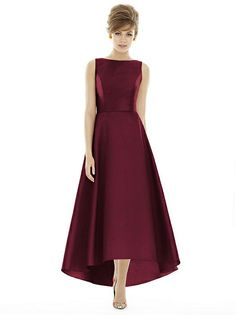 Alfred Sung Style D698 - Burgundy | The Dessy Group