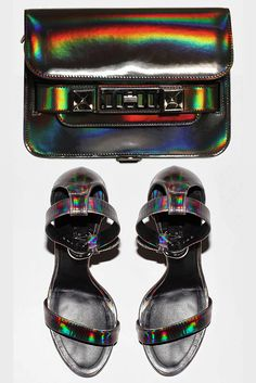 How friggin cool are these metallic hologram Proenza Schouler pieces?!