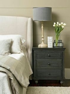 I love This rustic looking ikea hacked night stand!