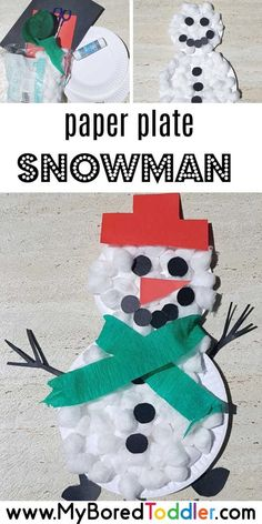 Paper Plate Snowman Craft paper plate snowman – a fun and easy toddler Chrsitmas craft ideas – Christmas Activities For Toddlers, Winter Crafts For Toddlers, Christmas Crafts For Kids, Toddler Crafts, Craft Activities, Preschool Crafts, Holiday Crafts, Winter Activities, Kid Crafts
