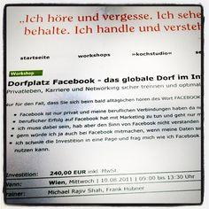 Ob Dorfplatz #Facebook oder Marktplatz mit @Heinz W. Warnemann und mir finden Sie den richtigen strategischen Einstieg in die Nutzung B2B und persoenliche Nutzung von Facebook http://www.adventure-network.eu/workshops/fb-dorfplatz/